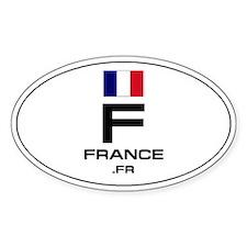 UN-Style Oval Automobile Sticker - France