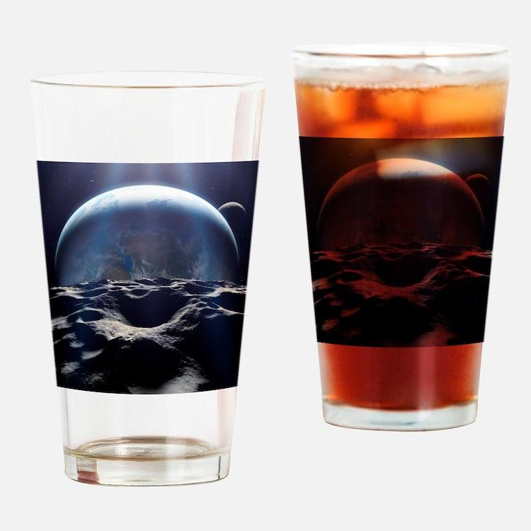 Habitable alien planet, artwork - Drinking Glass