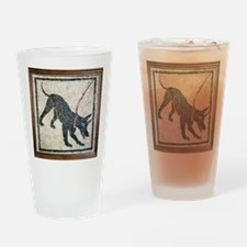 Roman guard dog mosaic - Drinking Glass