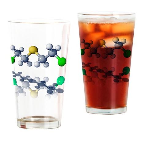 Mustard gas molecule - Drinking Glass