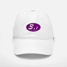 Purple Oval 3.1 Baseball Baseball Cap