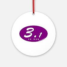 Purple Oval 3.1 Ornament (Round)