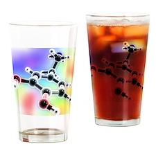 Dopamine, 3D molecular model - Drinking Glass