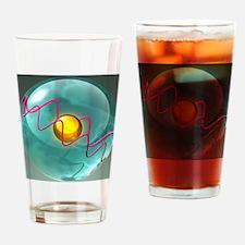 Helium atom, artwork - Drinking Glass