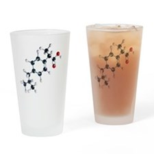 Ibuprofen molecule - Drinking Glass