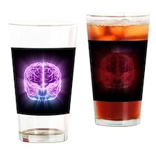 Human brain,computer artwork - Drinking Glass