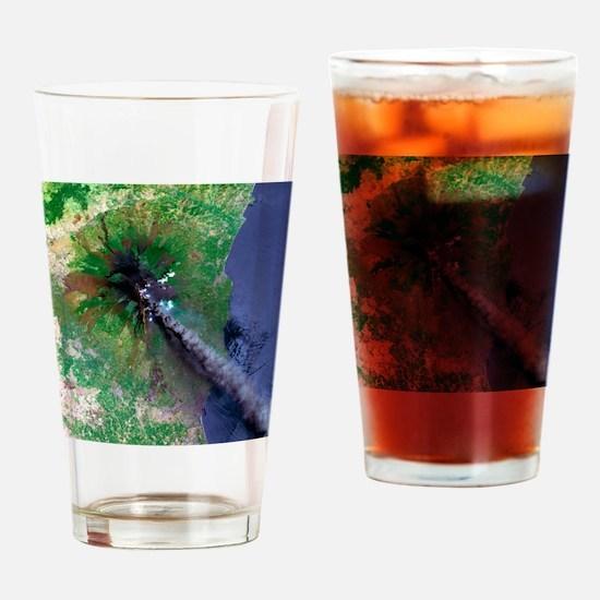 Mount Etna's smoke plume - Drinking Glass