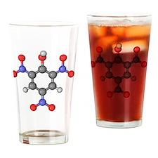 Picric acid explosive molecule - Drinking Glass