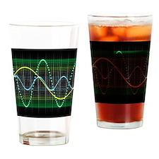 Sound wave, computer artwork - Drinking Glass