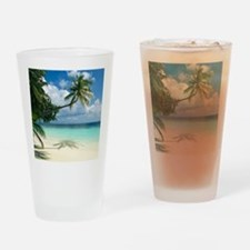 Tropical beach - Drinking Glass