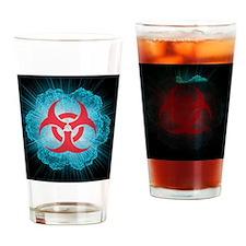 Biohazard symbol and virus - Drinking Glass