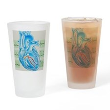h heart - Drinking Glass