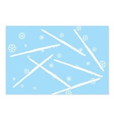 Flute Snowflakes Postcards (Package of 8)