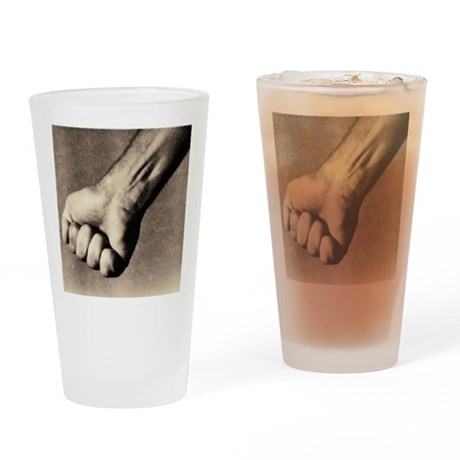 Man's clenched fist - Drinking Glass