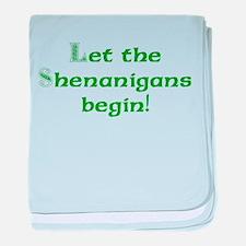 Let the Shenanigans Begin baby blanket