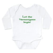 Let the Shenanigans Begin Long Sleeve Infant Bodys