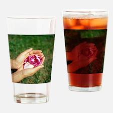 Flower held in hands - Drinking Glass