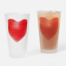 Heart and ECG - Drinking Glass