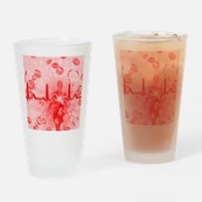 Red blood cells and ECG - Drinking Glass