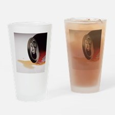 Spilt cola drink - Drinking Glass