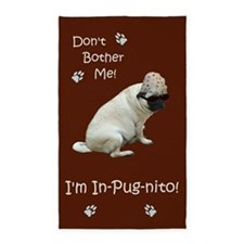 Funny In-Pug-nito! Pug Dog 3'x5' Area Rug