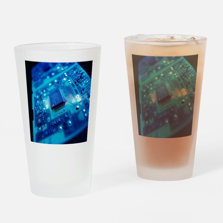 Computer circuit board - Drinking Glass