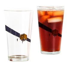 GPS satellite, artwork - Drinking Glass