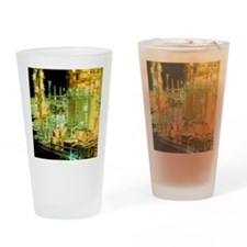Oil refinery at night - Drinking Glass