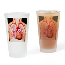 Human heart, artwork - Drinking Glass