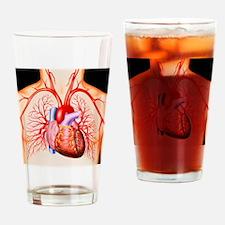 Human heart, artwork - Drinking Glass