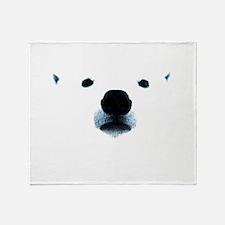 Polar Bear Face Throw Blanket