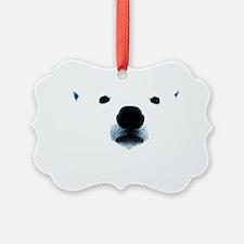 Polar Bear Face Ornament