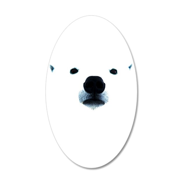 Polar bear face wall sticker by youlikethisshop for Belly button bears wall mural