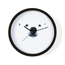 Polar Bear Face Wall Clock