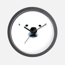 Polar Bear Face Wall Clock