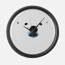 Polar Bear Face Large Wall Clock