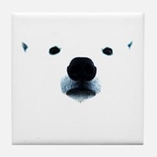 Polar Bear Face Tile Coaster
