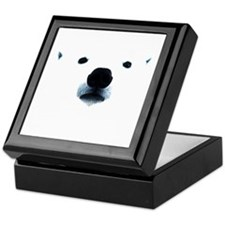 Polar Bear Face Keepsake Box