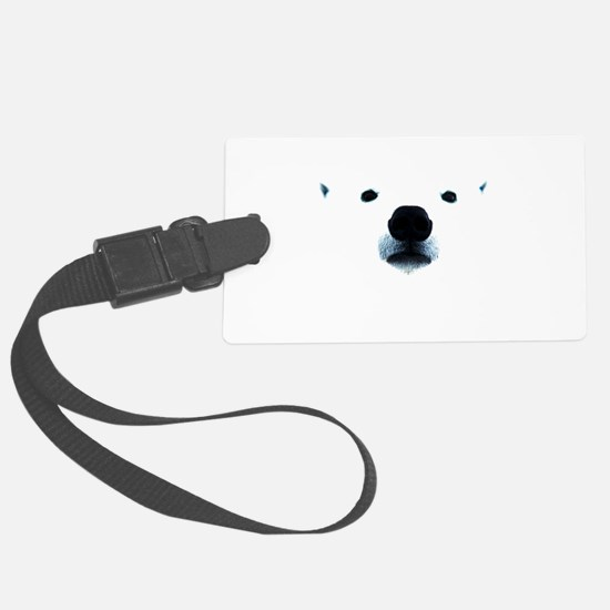 Polar Bear Face Luggage Tag
