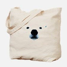 Polar Bear Face Tote Bag