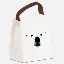 Polar Bear Face Canvas Lunch Bag