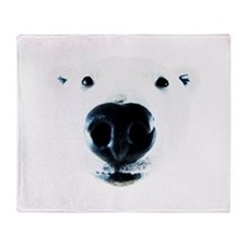 Polar Bear Sniff Throw Blanket