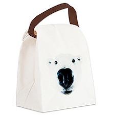 Polar Bear Sniff Canvas Lunch Bag