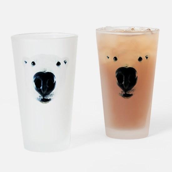Polar Bear Sniff Drinking Glass