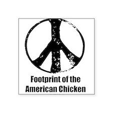 Footprint of the American Chicken Sticker
