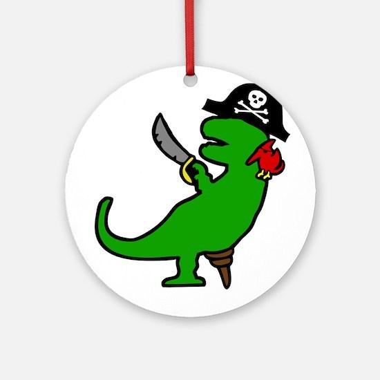 Pirate Dinosaur Ornament (Round)