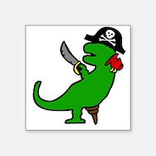 Pirate Dinosaur Sticker