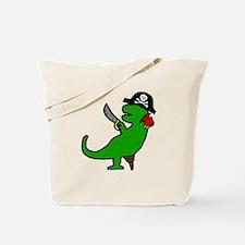 Pirate Dinosaur Tote Bag