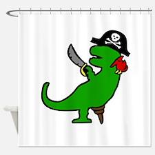 Pirate Dinosaur Shower Curtain