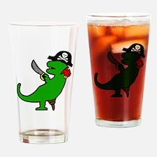 Pirate Dinosaur Drinking Glass